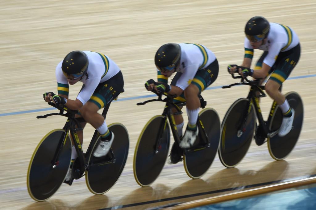 Australia won gold in the men's team pursuit ©Getty Images