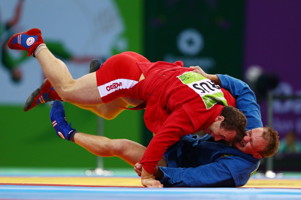 Sambo featured on the sports programme of the inaugural European Games in Baku in 2015 ©Getty Images