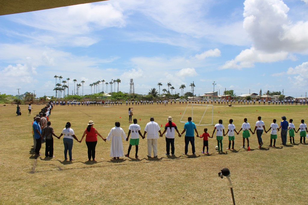 The event at the Gall Hill Playing Field in St. John, supported by UNICEF and the United States Embassy in Barbados, included basketball, dominoes, football, netball, and road tennis ©BOA