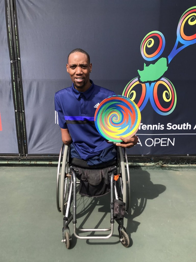 Sithole wraps up quad singles title at South Africa Wheelchair Tennis Open