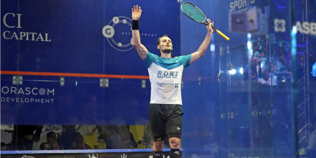 France's Gregory Gaultier claimed his fourth successive PSA World Tour title with victory in the men's El Gouna International Squash Open ©PSA