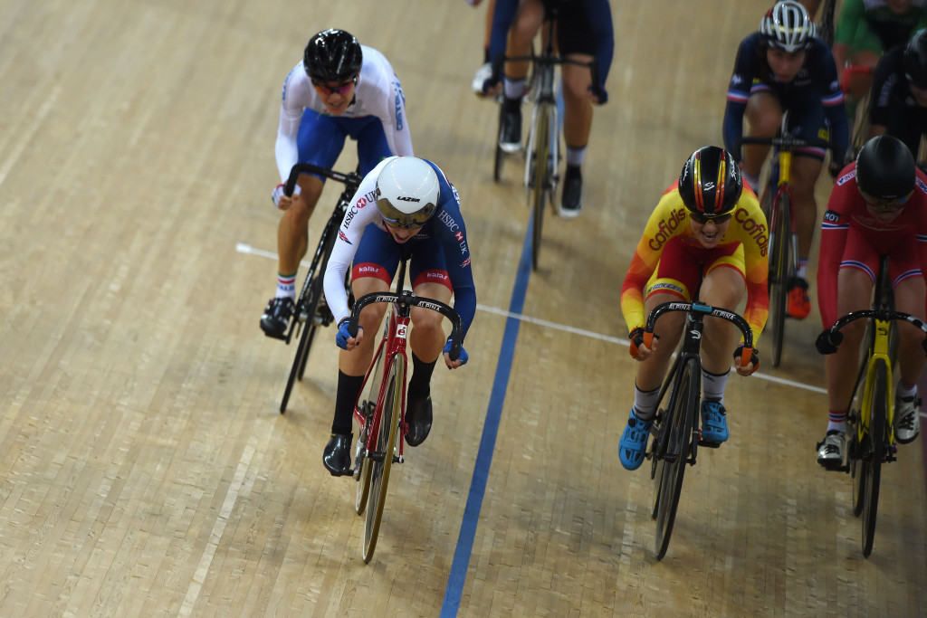Vogel and Barker sparkle on final day of UCI Track World Championships