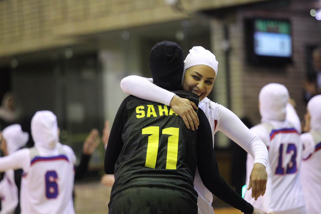 Players from both composite Iranian teams wore hijabs during their match ©FIBA
