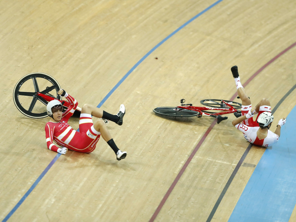 In pictures: Thrills and spills as Australia top UCI World Track Championships medals table