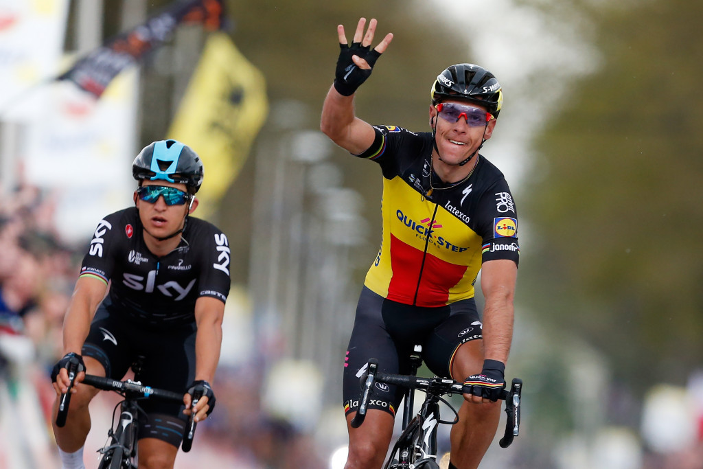 Gilbert and van der Breggan win at Amstel Gold Race