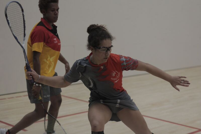 Claire Faucompre of New Caledonia denied the hosts a clean sweep by winning women's bronze against Sheila Morove