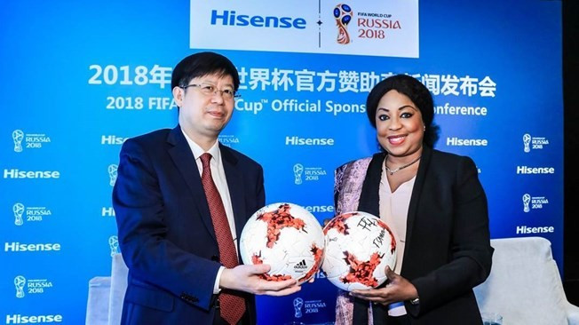 Hisense named as sponsor for 2018 FIFA World Cup