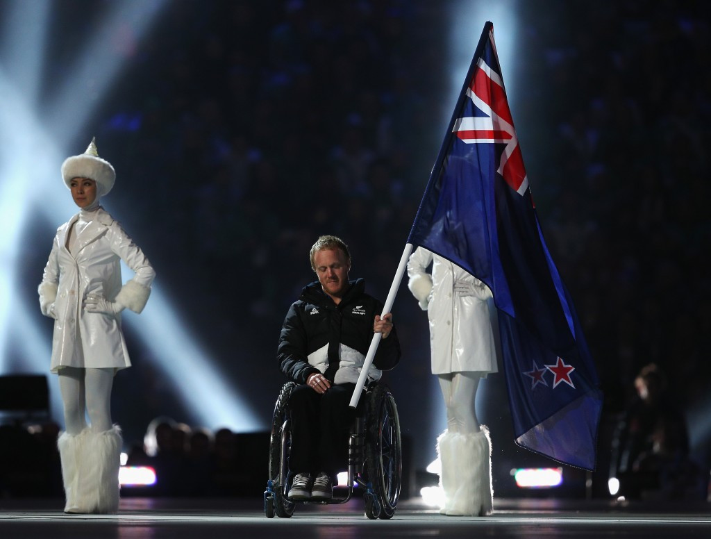 Corey Peters won a silver medal at the Sochi Paralympics before carrying the New Zealand flag at the Closing Ceremony ©Getty Images
