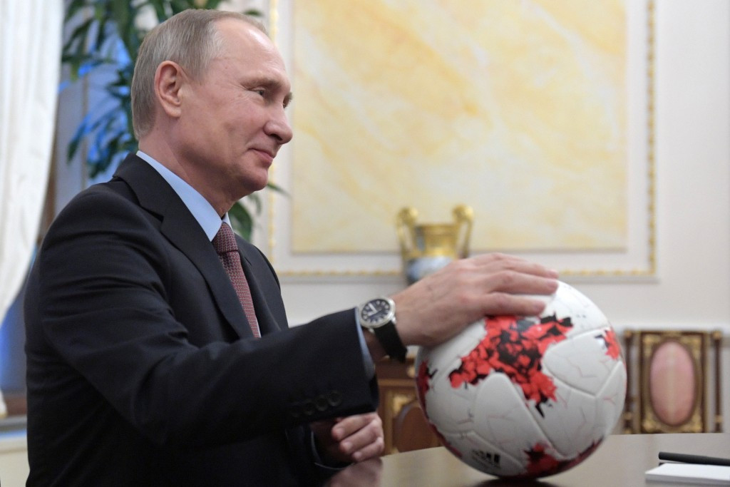 Vladimir Putin has signed a law tightening restrictions on football violence ©Getty Images