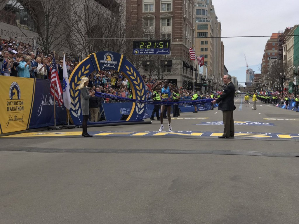 Edna Kiplagat won the women's race on her Boston Marathon debut ©Boston Marathon/Twitter