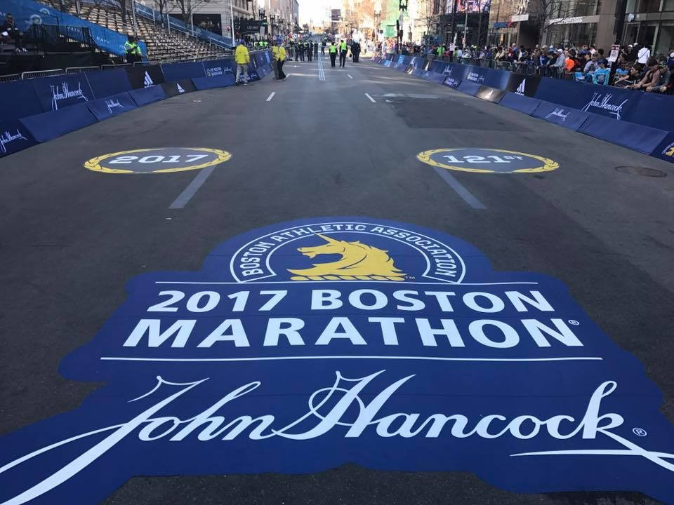 The Boston Marathon course is ready for runners to take to the roads before today's race ©Boston Marathon/Facebook