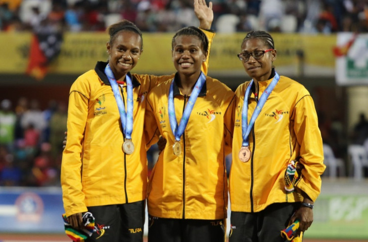 Papua New Guinea monopolised the medals in the women's high jump as Rellie Kaputin won gold with a national record of 1.77m ©Port Moresby 2015