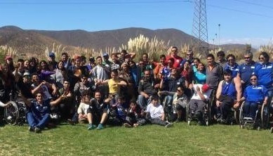 Thirty-three potential Paralympians were identified at a youth development programme event in Chile ©PCC