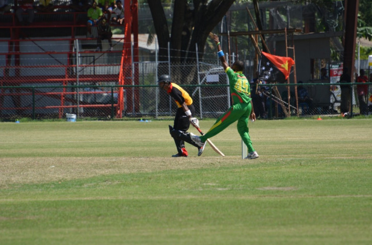 One of two wins for Vanuatu in the men's Twenty20 cricket competition came against hosts Papua New Guinea ©Port Moresby 2015