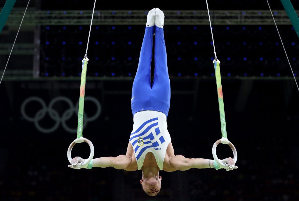 Olympic rings champion Eleftherios Petrounias of Greece is among those expected to compete at the 2017 European Artistic Gymnastics Championships in Romanian city Cluj-Napoca ©Getty Images