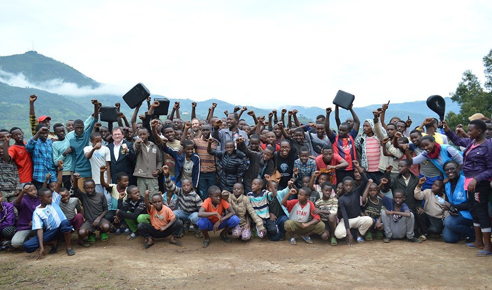 The Taekwondo Humanitarian Foundation has officially launched its latest pilot project at the Kiziba Refugee Camp in the Karongi district of Western Province, Rwanda ©THF