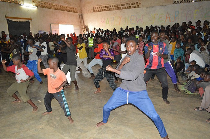 Camp leaders held a reception, which included demonstrations of taekwondo and kung fu ©THF