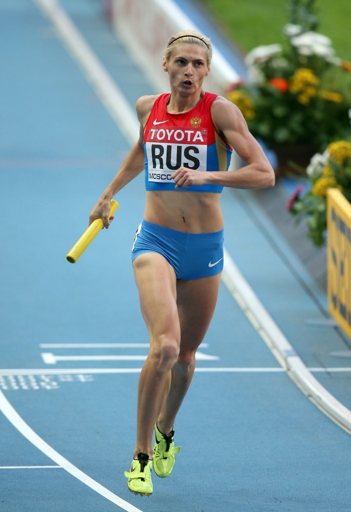 Antonina Krivoshapka is among the Russian athletes reportedly implicated ©Getty Images