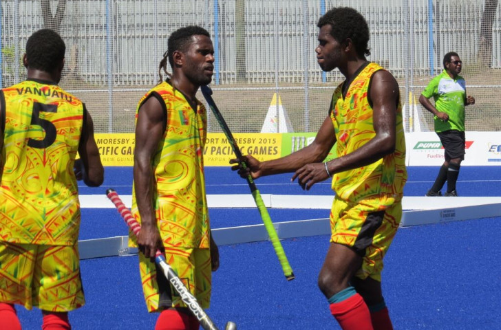 Vanuatu drew 6-6 with hosts Papua New Guinea in the men's hockey event ©Port Moresby 2015