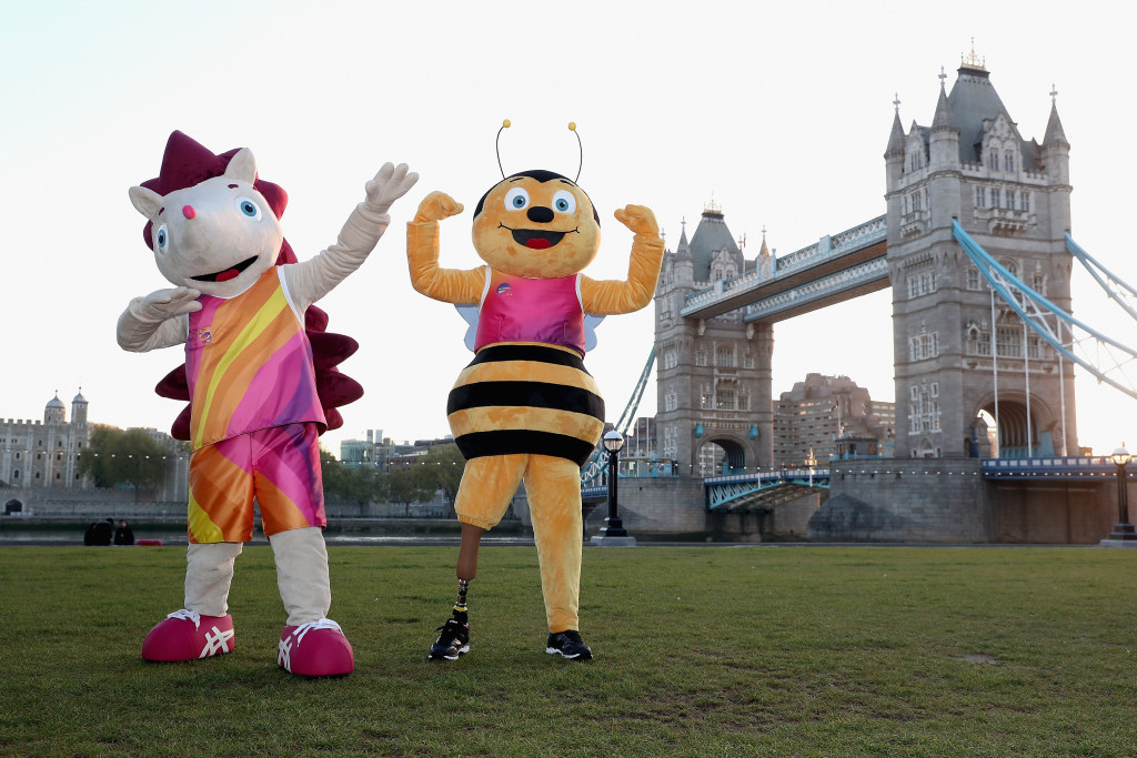A hedgehog and bee were chosen as  mascots for London 2017 because both species are in decline in the UK ©London 2017