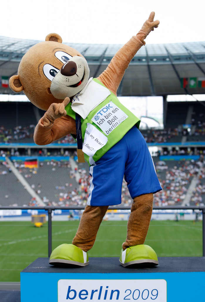 Berlino, the mascot for the 2009 IAAF World Championships, was a massive hit ©Getty Images