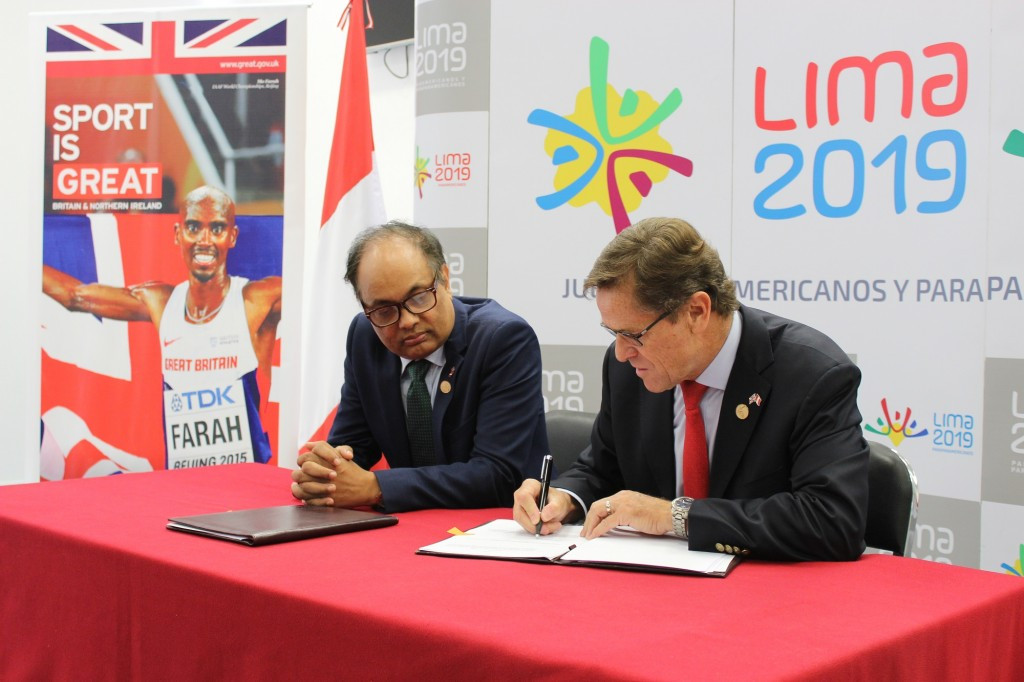 The new deal between Peru and Britain will continue until the end of the 2019 Pan American Games in Lima ©UK Government