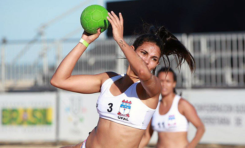 Handball was one of three sports contested at the 2017 International University Beach Games ©FISU