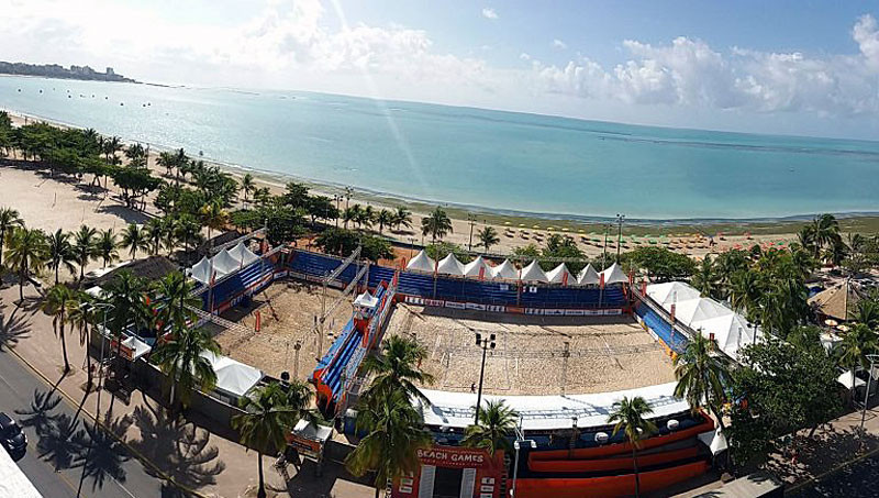 The venue for the 2017 International University Beach Games was set on the sands of Pajuçara beach in Maceió ©FISU