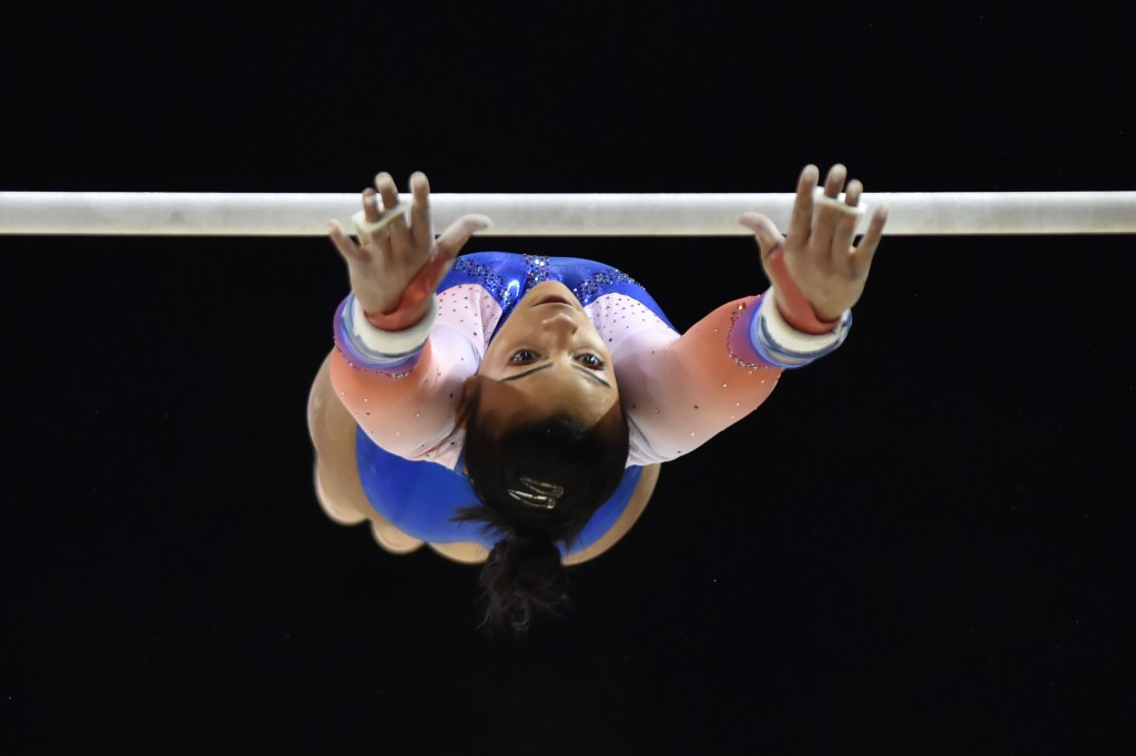 Britain's Ellie Downie made history as the first athlete from her country to qualify for all four finals at a European Championships ©Getty Images