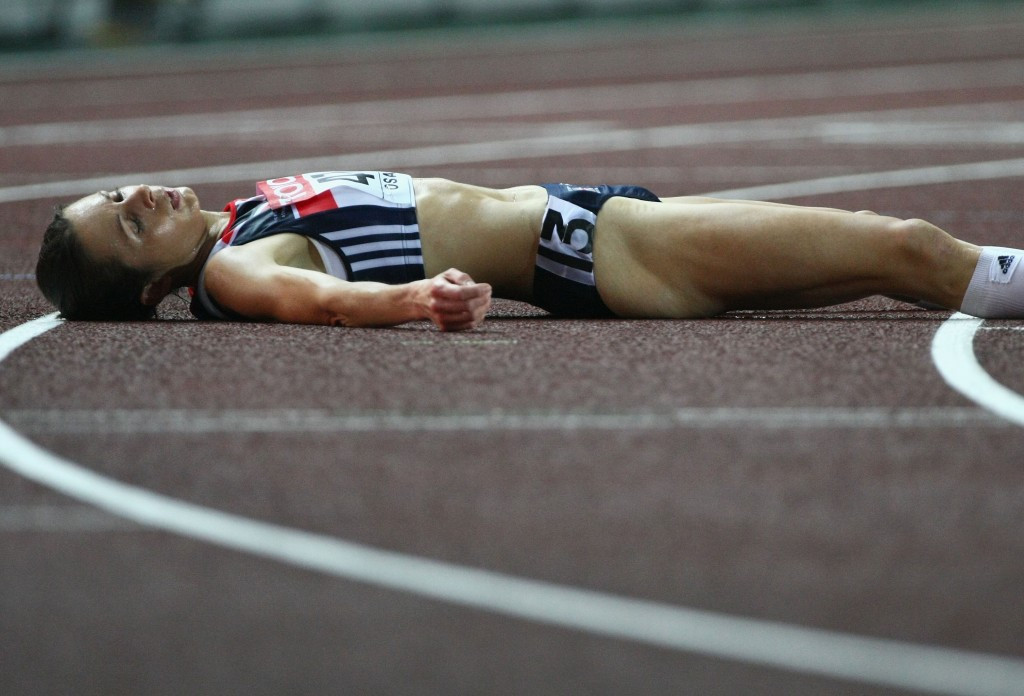 Jo Pavey was left down and out after finishing fourth in the 10,000 metres at the 2007 IAAF World Championships in Osaka but has since been promoted to the bronze medal ©Getty Images