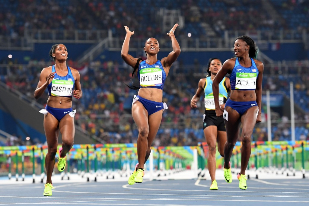 Brianna Rollins led a United States clean sweep of the 100m hurdles at Rio 2016 ©Getty Images