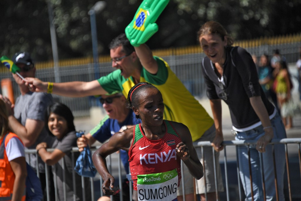 Olympic marathon champion  Jemima Sumgong is the latest leading Kenyan runner to have tested positive for banned performance-enhancing drugs ©Getty Images