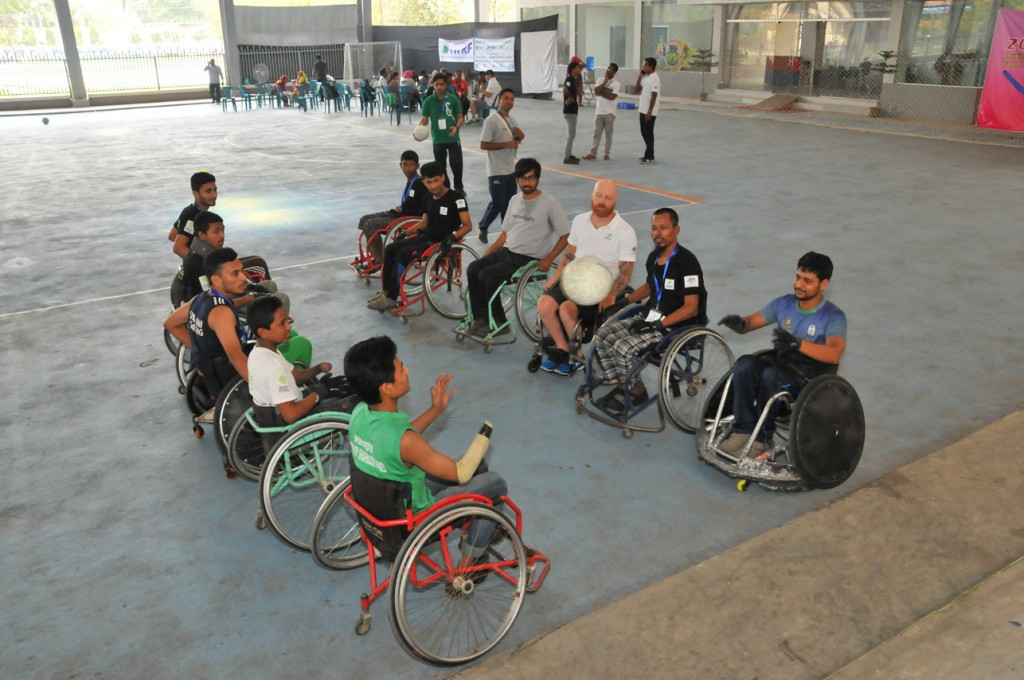 International Wheelchair Rugby Federation hold development clinic in Dhaka