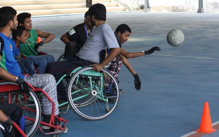 Participants were given the chance to play the sport as well as learn about coaching, referring and classification ©IWRF