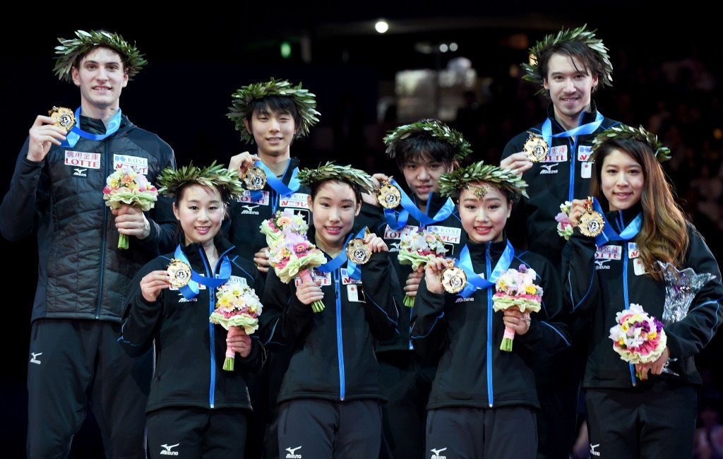 Hosts Japan recaptured the ISU World Team Trophy title after sealing victory on the third and final day of competition at the Yoyogi National Stadium in Tokyo ©Getty Images