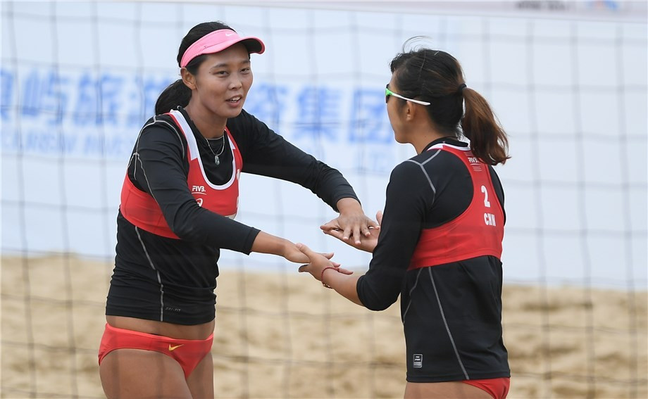 Chinese duo delight home crowd by reaching FIVB Xiamen Open semi-finals