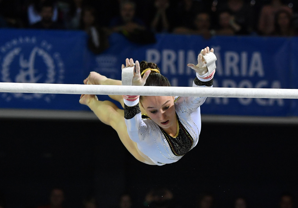 History was again made in Cluj-Napoca today as Belgium's Nina Derwael became the first-ever athlete from her country to win a European Artistic Gymnastics Championships title ©Getty Images