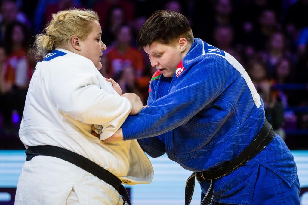 Belarus' Maryna Slutskaya won gold in the women's over 78kg category ©Getty Images