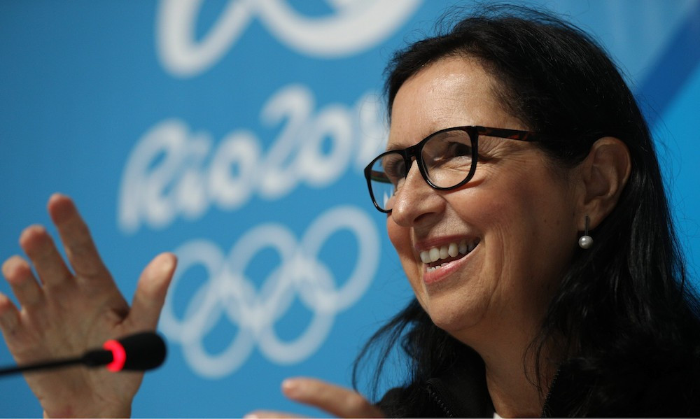 Tricia Smith made a valuable interjection at the IOC Session in Pyeongchang ©Getty Images