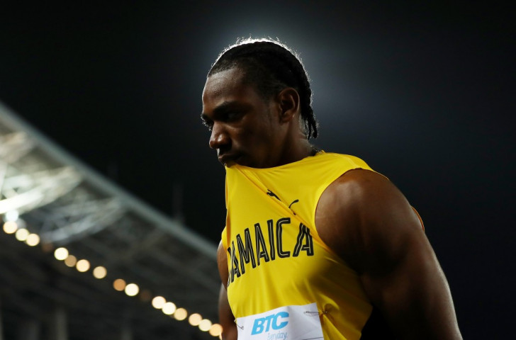 Jamaica's 2011 world 100m champion Yohan Blake was left to reflect at the final changeover spot in the men's 4x100m heats after his Jamaican colleagues failed to get the baton to him ©Getty Images for IAAF