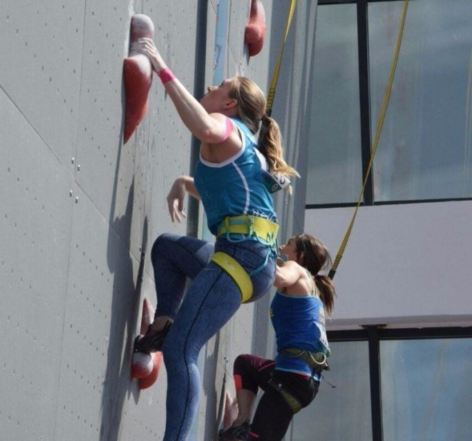 Russian sets women's speed world record at IFSC World Cup in Chongqing