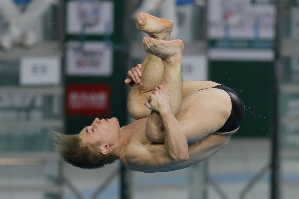 Laugher wins second gold of FINA Diving World Series season