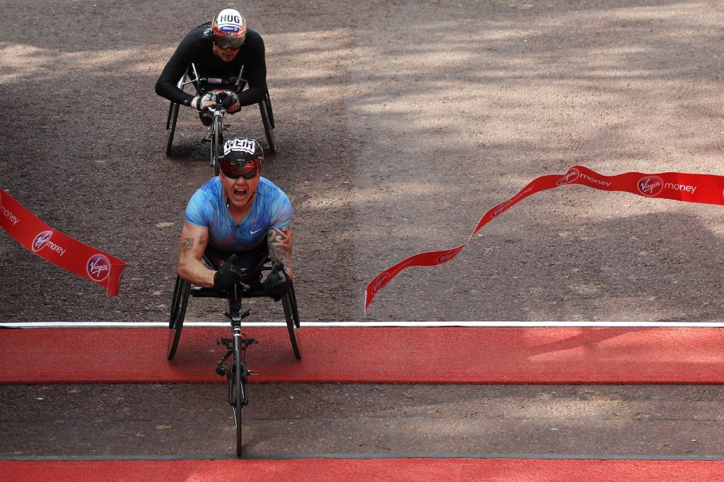 David Weir won the men's wheelchair title for the seventh time ©Getty Images