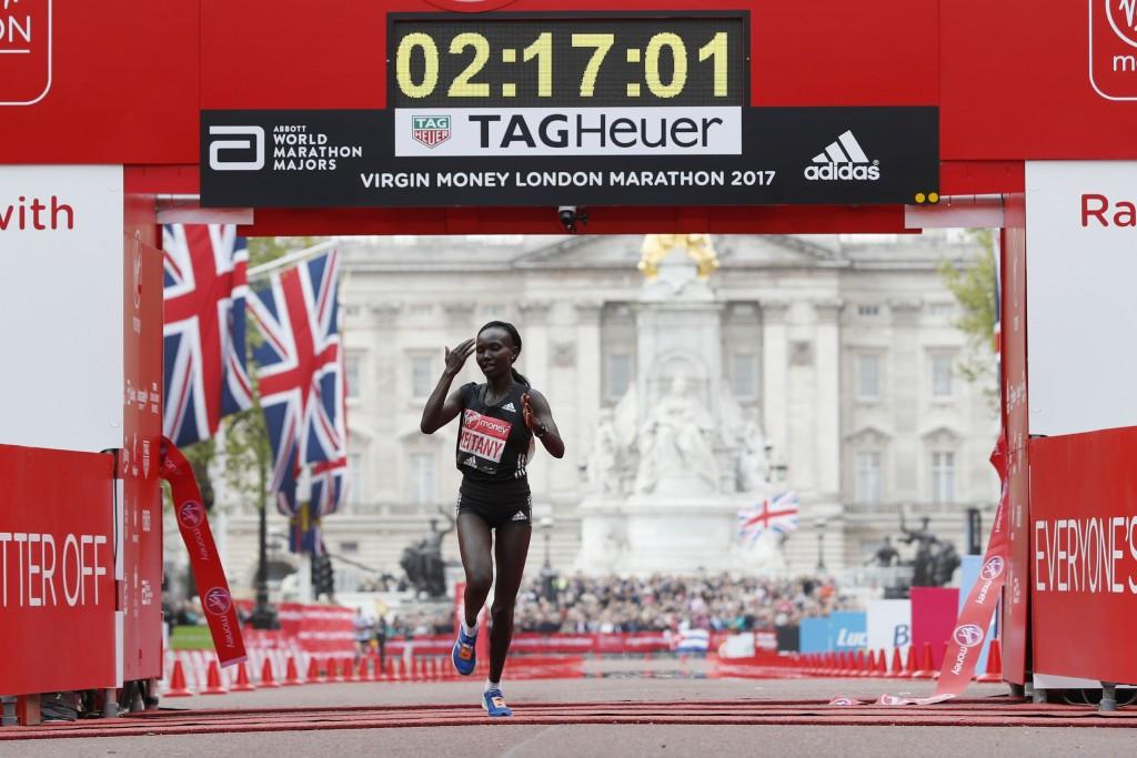 Keitany breaks women's only world record at London Marathon
