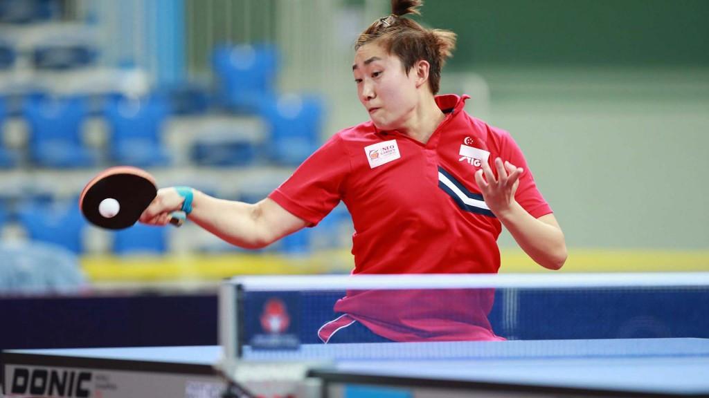 Top seed Feng secures women's singles title at ITTF Korea Open