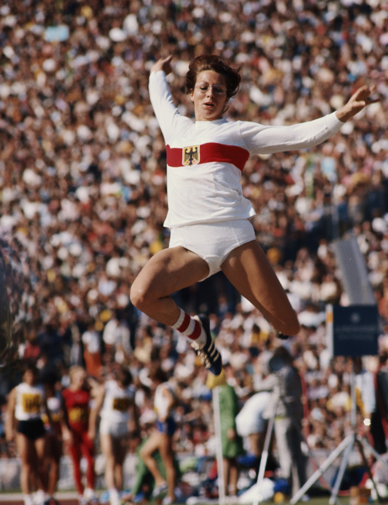 Heide Rosendahl's won three medals at her home 1972 Olympic Games in Munich, including gold in the long jump ©Getty Images