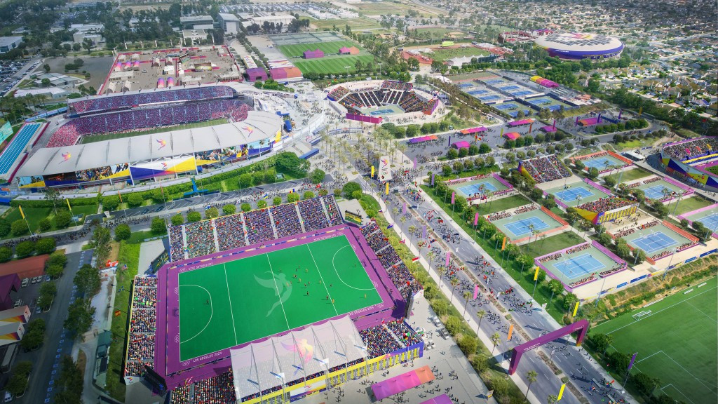 Los Angeles 2024 have unveiled the second part of their virtual venue tour series ©Los Angeles 2024
