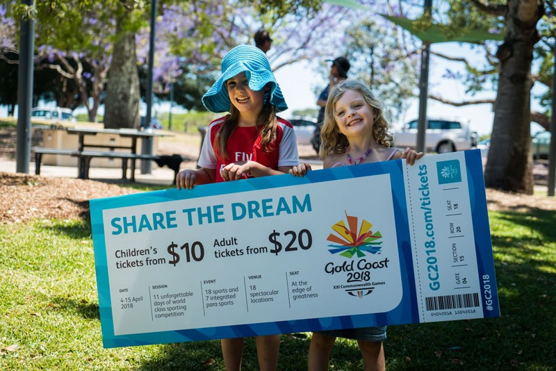 Gold Coast 2018 will be inviting ticket requests for next year's Commonwealth Games from 12pm AEST tomorrow ©Gold Coast 2018
