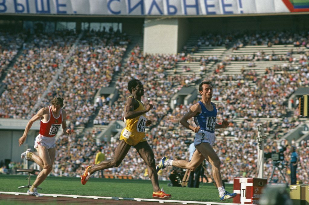 Italian sprinter Pietro Mennea won the 200m Olympic gold medal at Moscow 1980 ©Getty Images