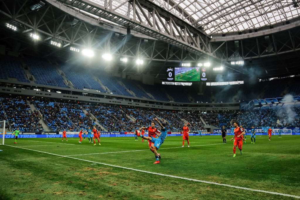 First match held at 2018 FIFA World Cup stadium in St Petersburg
